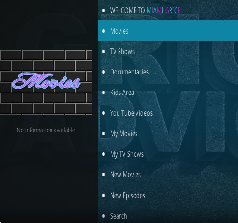 How To Install Miami Grice Kodi Addon Overview