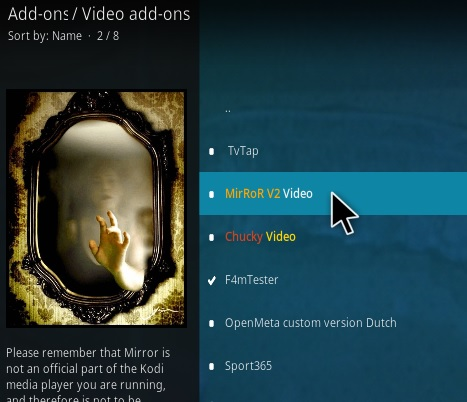 How To Install Mirror 2 Video Kodi Addon Step 17