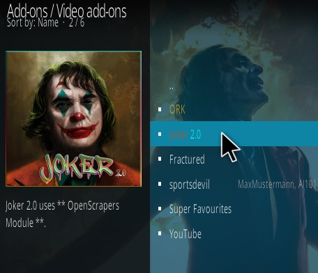 How To Install Joker Kodi Addon Step 17