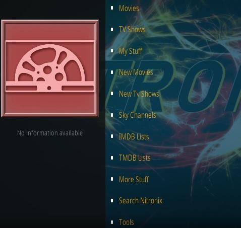 How To Install Nitronix Kodi Addon Overview2