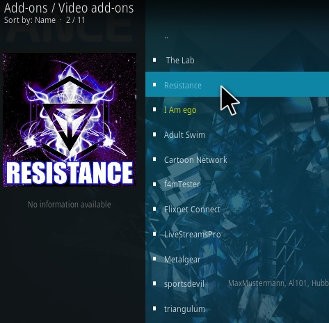 How To Install Resistance Kodi Addon V917 Step 17
