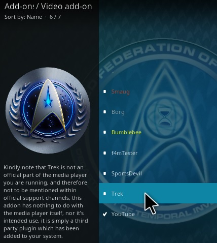 How To Install Trek Kodi Addon Step 17