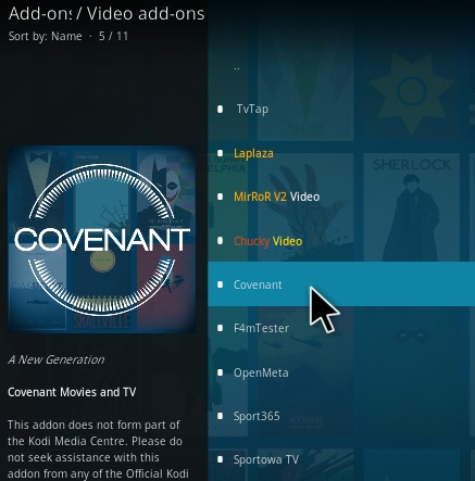 How to Install Covenant Kodi Add-on (Cy4Root Repo) Step 17