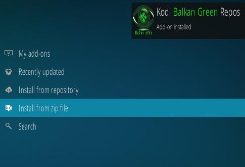 How To Install Balkan Green Kodi Addon Step 13