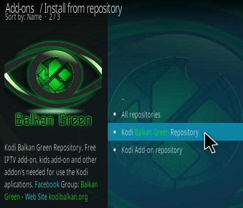 How To Install Balkan Green Kodi Addon Step 15