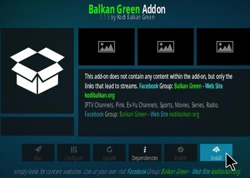 How To Install Balkan Green Kodi Addon Step 18