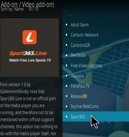 How To Install Sport 365 Live Kodi Addon Update Step 17