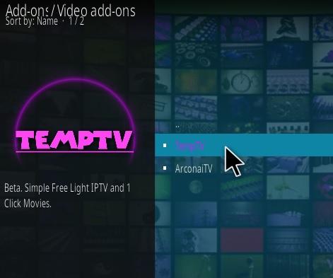 How To Install TEMPTV Kodi Addon Updated Step 17