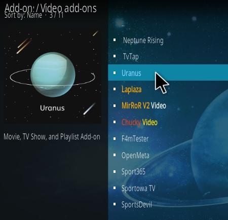 How To Install Uranus Kodi Addon Step 17