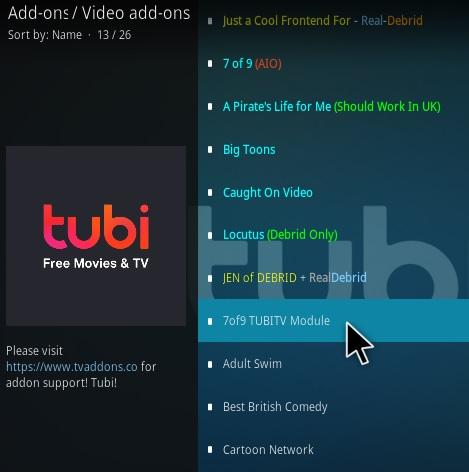 How To Install 7of9 Tubi TV Kodi Addon Step 18