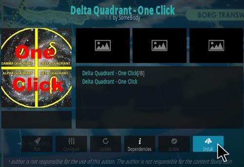 How To Install Delta Quadrant One Click Kodi Addon Step 19