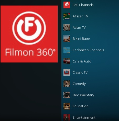 How To Install FilmOn 360 Kodi Addon Overview