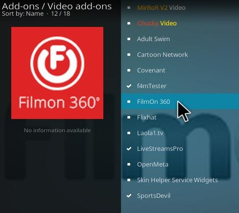 How To Install FilmOn 360 Kodi Addon Step 17