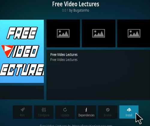 How To Install Free Video Lectures Kodi Addon Step 19