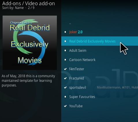 How To Install Real Debrid Exclusively Movies Step 17