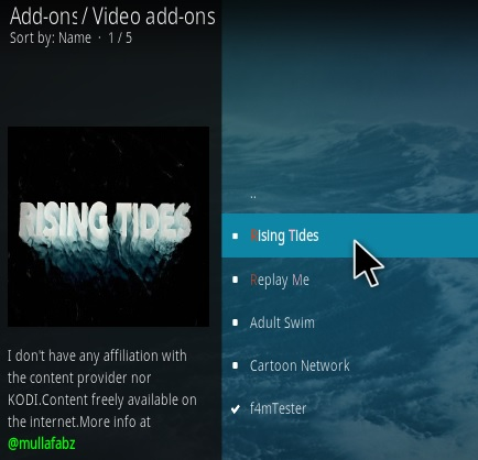 How to Install Rising Tides Kodi Sports Addon 2020 Step 17