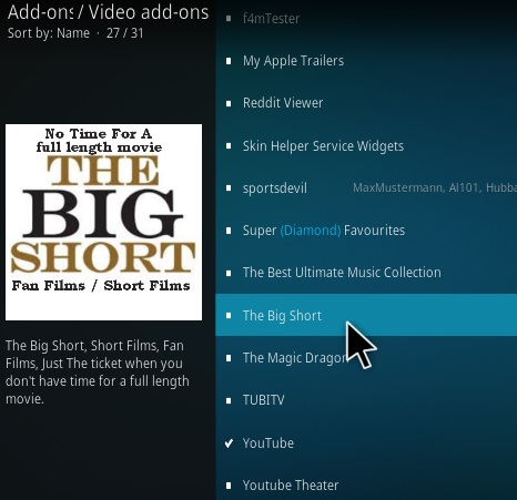 How To Install The Big Short Kodi Addon Step 18