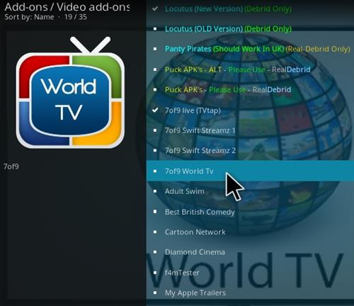 How To Install 7 of 9 World TV Kodi Addon Step 18