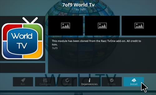 How To Install 7 of 9 World TV Kodi Addon Step 19
