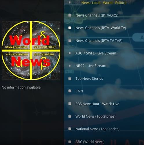 How To Install Gamma Quadrant World News Kodi Addon Overveiw