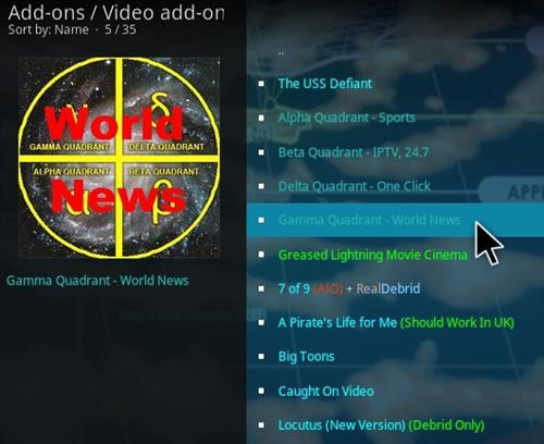 How To Install Gamma Quadrant World News Kodi Addon Step 18