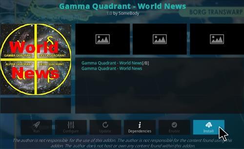 How To Install Gamma Quadrant World News Kodi Addon Step 19