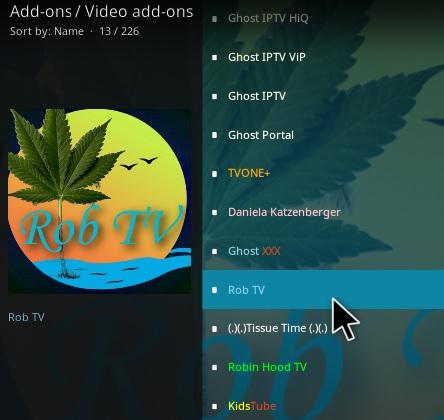 How To Install Rob TV Kodi Addon Step 17