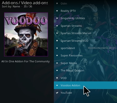 How To Install Vodoo Kodi Addon Step 17