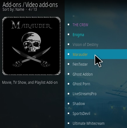 How To Install Marauder 2020 Kodi Addon Step 17