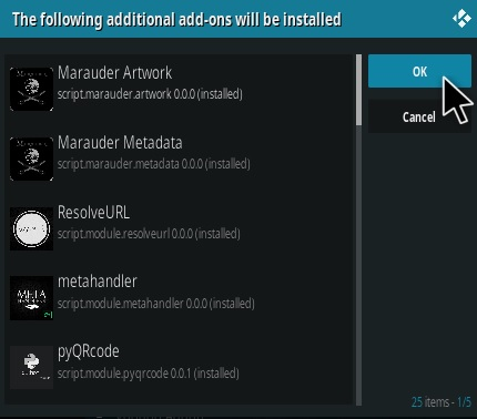 How To Install Marauder 2020 Kodi Addon Step 19