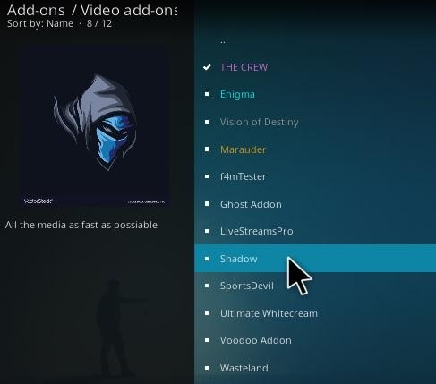 How To Install Shadow Kodi Addon Step 17