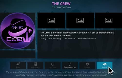 How To Install The Crew Kodi Addon V74 Step 18