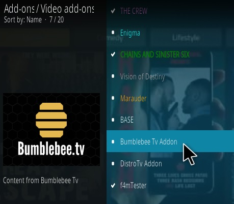 How To Install Bumblebee TV Kodi Addon Step 17