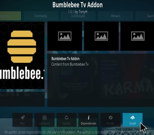 How To Install Bumblebee TV Kodi Addon Step 18