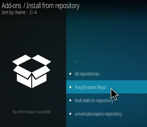 How To Install FoxyStreams Kodi Addon Step 15