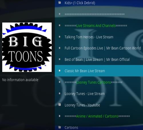 How To Install Big Toons Kodi Addon 2020 Overview