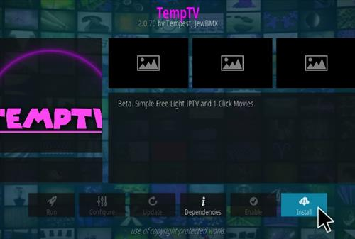 How To Install TEMPTV Kodi Addon V2070 Step 18