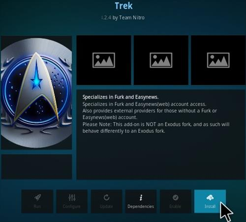 How To Install Trek Kodi Addon update Step 18