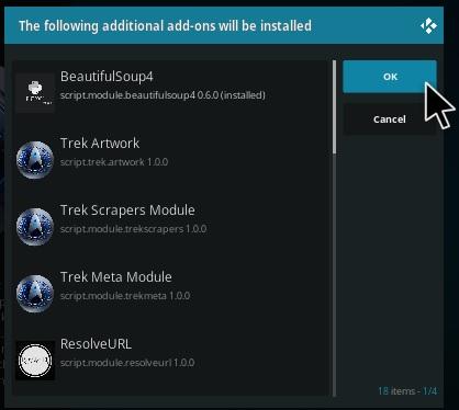 How To Install Trek Kodi Addon update Step 19