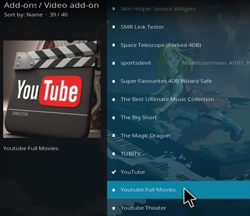 How To Install YouTube Full Movies Kodi Addon Step 18