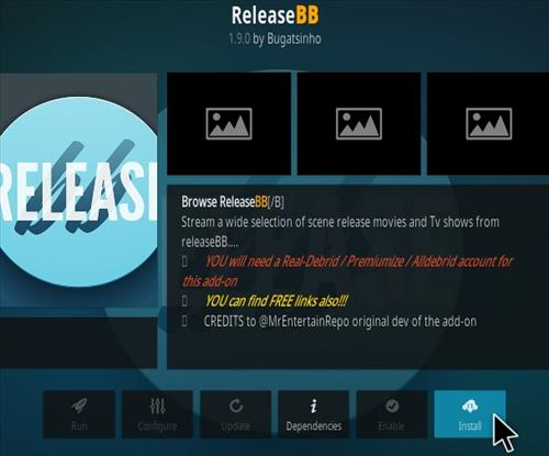 How to Install Release BB Kodi Addon Update Step 18