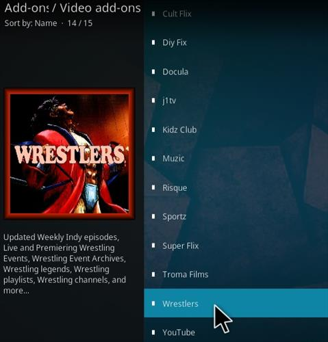 How To Install The Wrestlers Kodi Addon 2020 Step 17