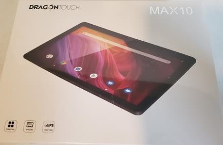Review Dragon Touch MAX 10 Tablet Box