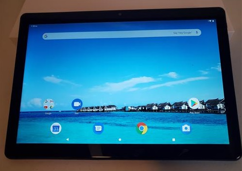 Review Dragon Touch MAX 10 Tablet Buttons and On