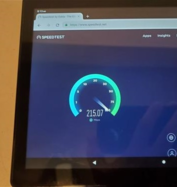 Review Dragon Touch MAX 10 Tablet WiFi Speed Test
