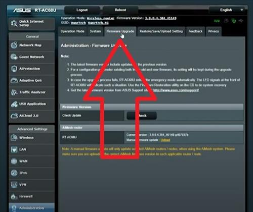 How To Flash an Asus Router with Asuswrt Merlin Firmware Step 9