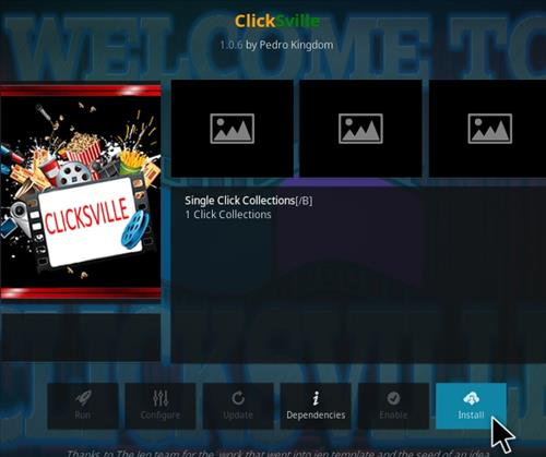 How To Install ClickSville Kodi Addon V106 Step 19