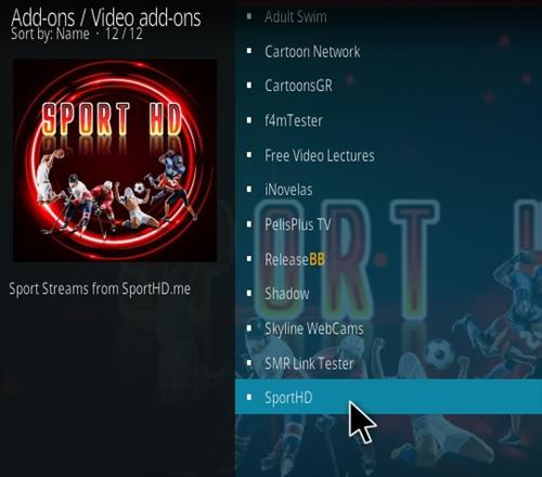 How To Install Sport HD Kodi Addon Step 17