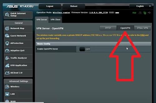 How To Setup and Configure an Asus Router as a VPN Step 5