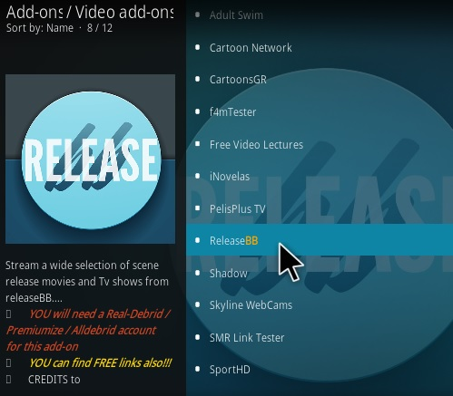 How to Install Release BB Kodi Addon V 203 Step 17